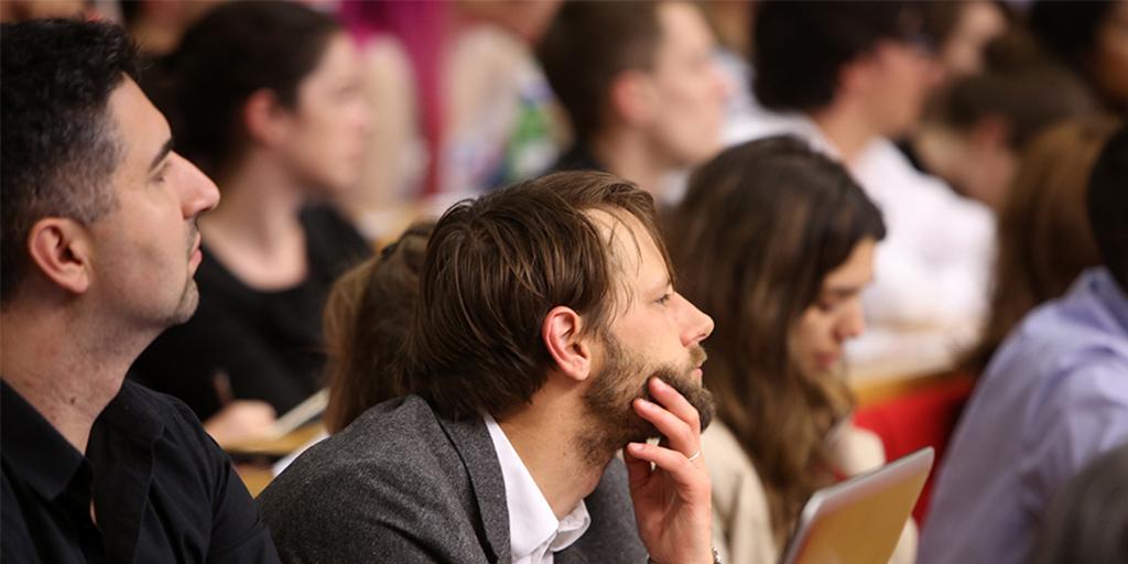 people attending a seminar, source: https://www.flickr.com/photos/lseinpictures/35199349845/in/album-72157687833981816/g